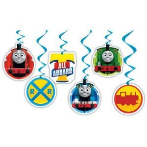 6pk Thomas And Friends Hanging Swirl Decorations E3937