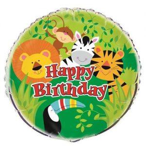 Animal Jungle Zoo Safari Foil Balloon 45cm 52167