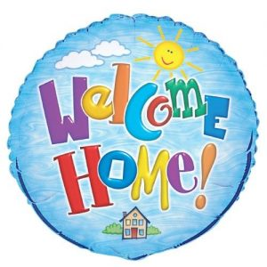 Welcome Home Foil Balloon 45cm 52293