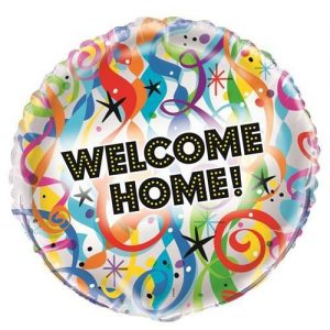 Bright Welcome Home Foil Balloon 45cm 53992