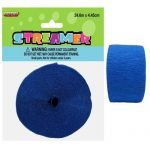 Royal Blue Crepe Streamer Paper Party Decorations 6345