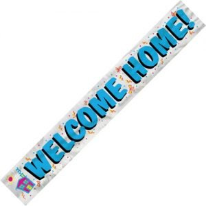 Welcome Home Foil Banner 3.6m 90014