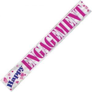Happy Engagement Foil Banner 3.6m Pink 90019