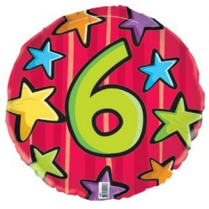 6th Birthday Jungle Safari Foil Balloon 45cm E2193