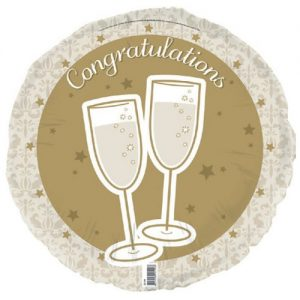 Congratulations Gold Foil Balloon 45cm E2199