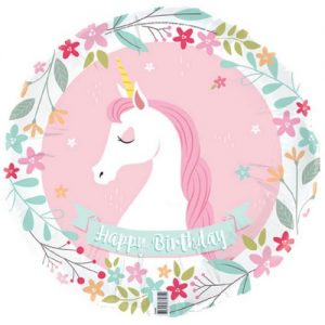 Unicorn Foil Balloon 45cm Girls Happy Birthday E4140