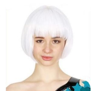 White Womens Short Synthetic BOB Wig 22401