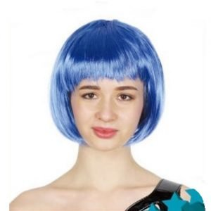 Blue Womens Short Synthetic BOB Wig 22408