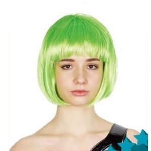 Lime Green Womens Short Synthetic BOB Wig 22410