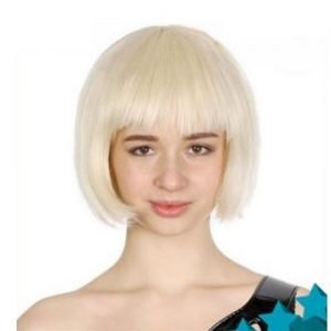 Blond Blonde Womens Short Synthetic BOB Wig 22416
