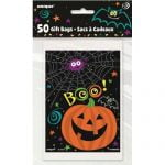 50pk Halloween Loot Lolly Treat Favour Party Bags 47438