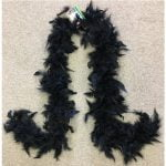 Black Feather Boa 150cm 1920s 20s Party Accessories PW9389