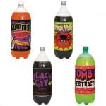 4pk Halloween Soft Drink Bottle Labels Spider Horror Party Decorations 62535