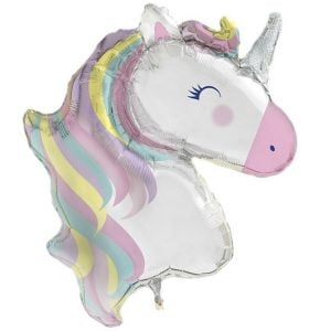 Giant Unicorn Foil Balloon 106cm Unicorn Decorations 56709