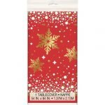 Table Cover Christmas Gold Sparkle Tablecloth 58013