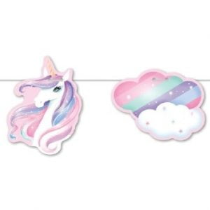 Unicorn Paper Bunting Flag Banner Hanging Decorations E4939