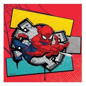 Napkins 20pk Spider-Man Serviettes E5892