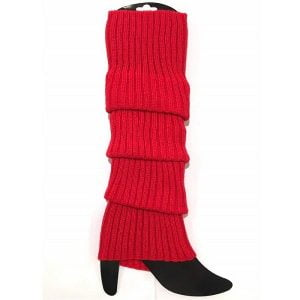 Red Leg Warmers Chunky Knit 1980'S Party Accessories 15180-03