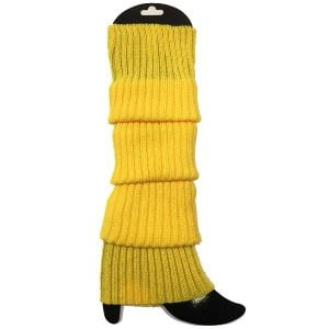 Yellow Leg Warmers Chunky Knit 1980'S Party Accessories 15180-12