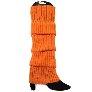 Orange Leg Warmers Chunky Knit 1980'S Party Accessories 15180-13