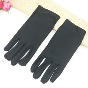 Short Black Gloves Ladies Womens Party Accessories 18540-01