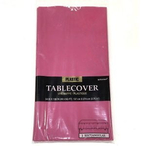 Magenta Rectangle Plastic Table Cover Tablecloth 137CM x 274CM 77015