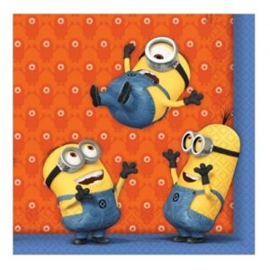 Napkins Serviettes 20pk Despicable Me Minions 997973