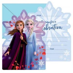 Party Invitations 8pk Disney Frozen 2 E5834