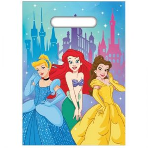 8pk Disney Princess Plastic Party Bags E5849