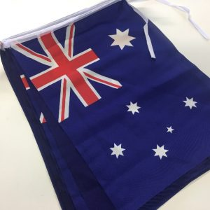 10 Australian Bunting Flags 20CM x 30CM Australia Day 13268