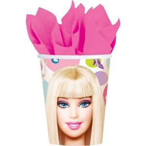 Paper Cups 8pk Barbie All Doll'd Up 589379