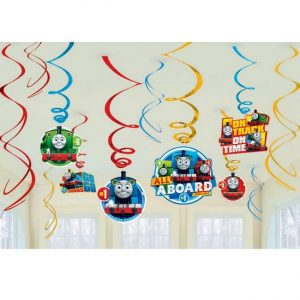 Hanging Swirl Decorations Pack 12pk Thomas And Friends 671752