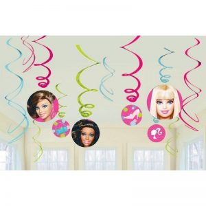 Hanging Swirl Decorations 12pk Barbie All Doll'd Up 674499