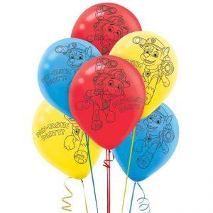 Latex Balloons 30CM 6pk PAW Patrol 111462