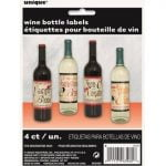 Bottle Labels 4pk Halloween Vintage Hall Wine Bottle Labels 63460
