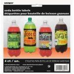 Bottle Labels 4pk Halloween Soft Drink Bottle Labels Monster Lab 63461