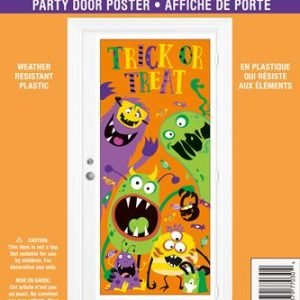 Door Poster Halloween Spooky Silly Monsters Trick Or Treat 77030