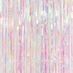 Iridescent Foil Curtain Unicorn Mermaid Backdrop E4947