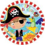 Large Plates 8pk Little Pirate 551622