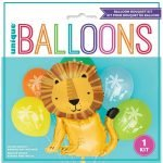 Bouquet Balloons 6pk Jungle Zoo Safari Wild 73930