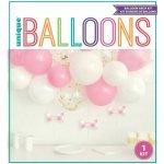 Balloon Arch Kit Girls Baby Shower Pink White Confetti 74919