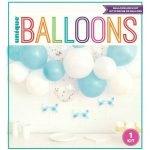 Balloon Arch Kit Boys Baby Shower Blue White Confetti 74949