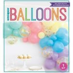 Unicorn Balloons Garland Kit 40PCS Pastel Confetti 75460