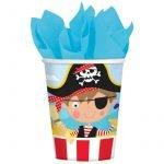 Paper Cups 8pk Little Pirate 581622