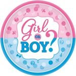 Small Paper Plates 8pk Gender Reveal Baby Shower 541573