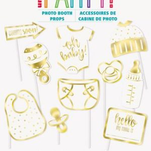 10 Selfie Photo Props Oh Baby! Foil Stamped Photo Props 73409