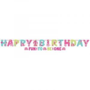 Jumbo Letter Banner Wild One Girls 1st Birthday Jungle 120117