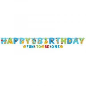 Jumbo Letter Banner Wild One Boys 1st Birthday Jungle 120120