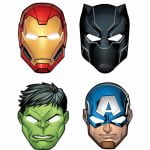 Paper Masks 8pk Avengers Powers Unite 360385