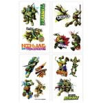Fake Tattoos 8PCS Teenage Mutant Ninja Turtles TMNT Tattoo Favour 392555